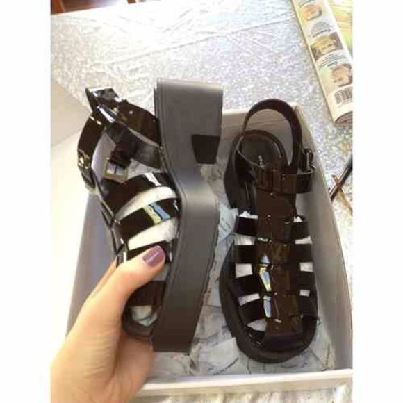 shoes jelly sandals jelly shoes jelly sandals summer black high heels chunky shiney chunky shoes boots
