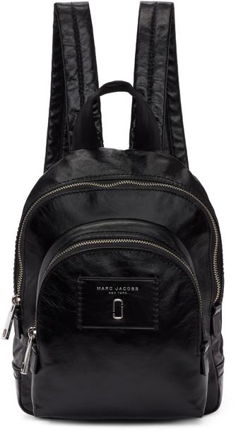 Marc Jacobs mini backpack leather black black leather bag