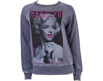 marilyn monroe grey sweater shirt