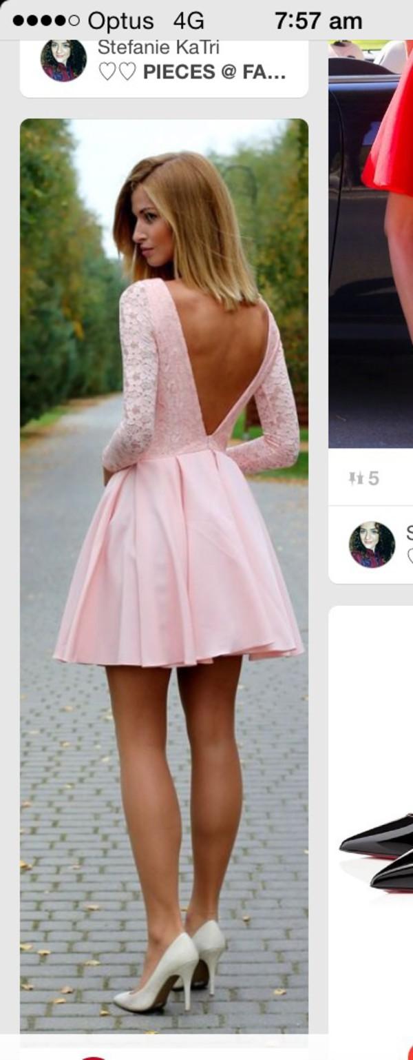3e8dbc5853 dress lace cute love light pink lace dress jacket lace dress with v cut out  back.