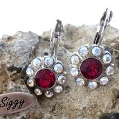 jewels,siggy jewelry,swarovski,earrings,red,siam,ruby,sparkle,bling,trendy,fashion,beauty fashion shopping,wedding,black tie affair,gorgeous,fashion jewelry,sparle,gift ideas,holiday gift,etsy,etsy seller