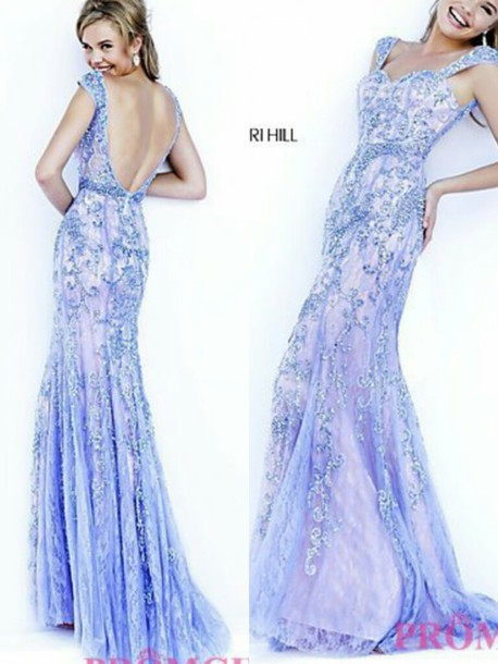 dress periwinkle bue prom dress sherri hill