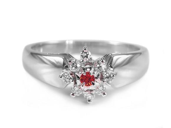 jewels ring gold diamonds pierścionek impressimo red cherry diamonds czerwony brylant zaręczyny red cherry red diamond