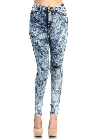 LoveMelrose.com From Harry & Molly | HIGH WAISTED JEANS - MEDIUM ACID WASH