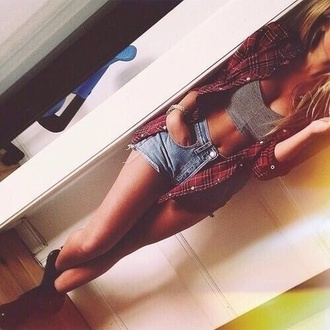 tank top blouse shorts top crop tops indie shirt flannel charcoalgrey grey