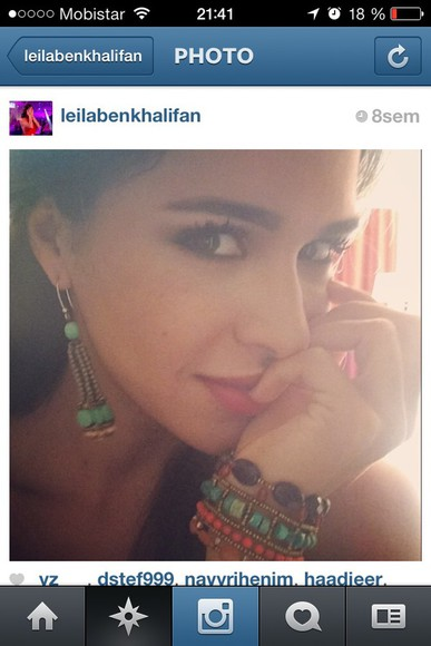 jewels earing leilabenkhalifa leila secret story turquoise jewelry green mermaid sequins h&m