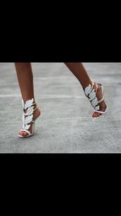 shoes,heels,white,high heel sandals