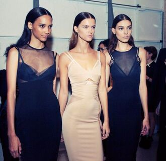 dress black dress victoria beckham black nude dress sheer