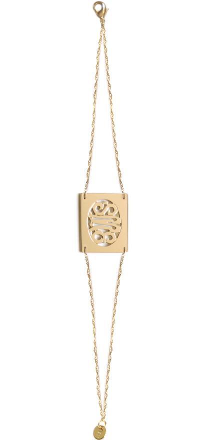 bg1010b rectangular monogram bracelet miriam merenfeld