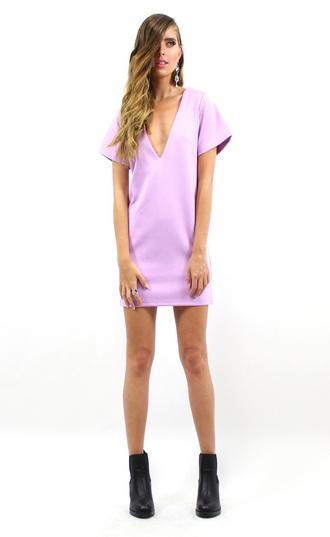 shift dress lioness pastel dress grunge hipster boho 90s style 90's style cute boutique divergence clothing purple dress pastel grunge