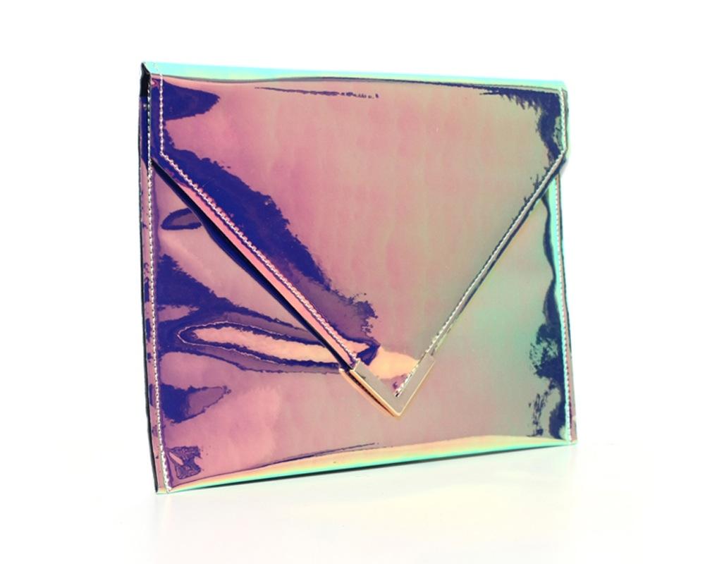 RAINBOW HOLOGRAM ENVELOPE CLUTCH | Shop Art Wednesday