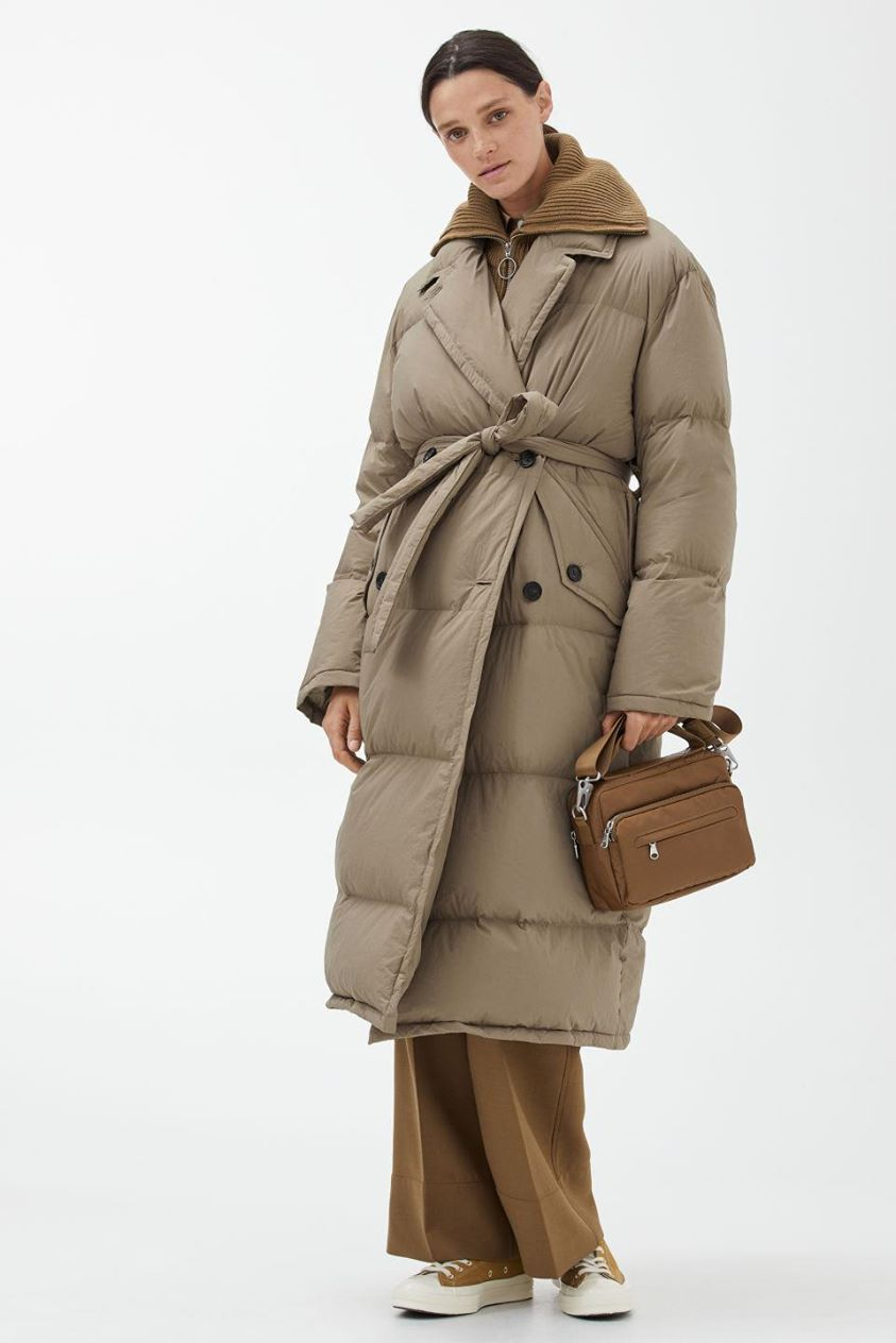 Down Puffer Trench Coat