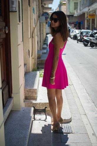 dress pink sunglasses evs fashion stories balenciaga