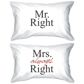pajamas,mr and mrs,mr right and mrs always right,matching couples,mr and mrs pillowcases,his and hers pillows,his and hers pillowcases,pillow,mr right,mrs always right