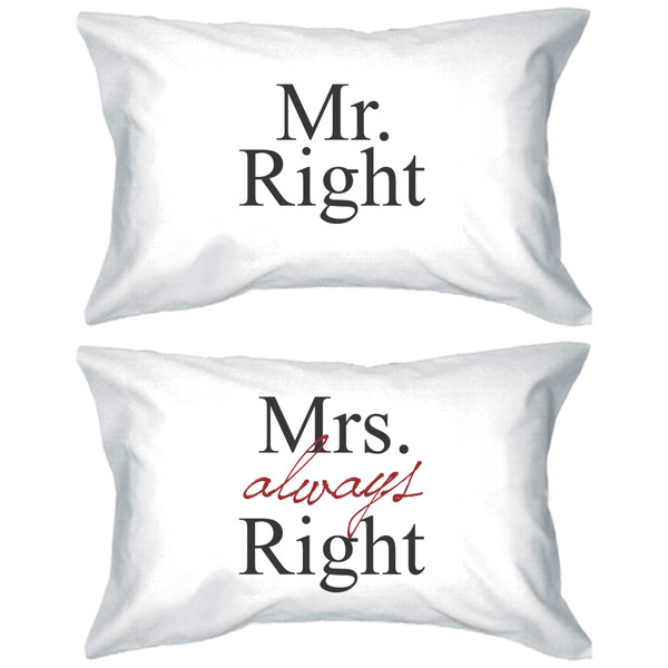 pajamas mr and mrs mr right and mrs always right matching couples mr and mrs pillowcases his and hers pillows his and hers pillowcases pillow pillow mr right mrs always right