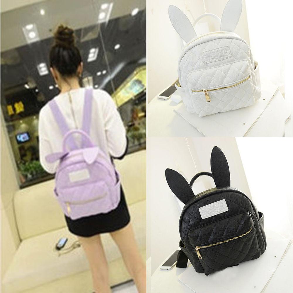 28d66c376fa0 Hot BUNNY EARS backpack wonderland rabbit pastel cute kawaii ...