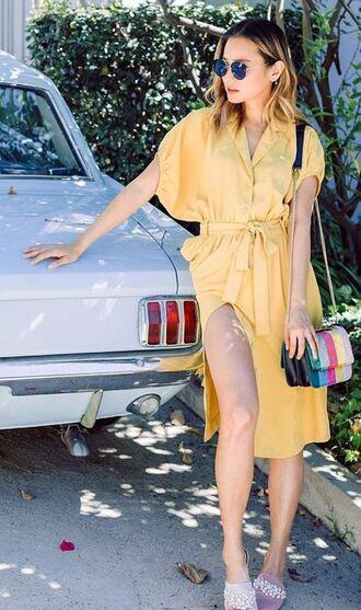 dress yellow yellow dress midi dress jamie chung purse instagram blogger