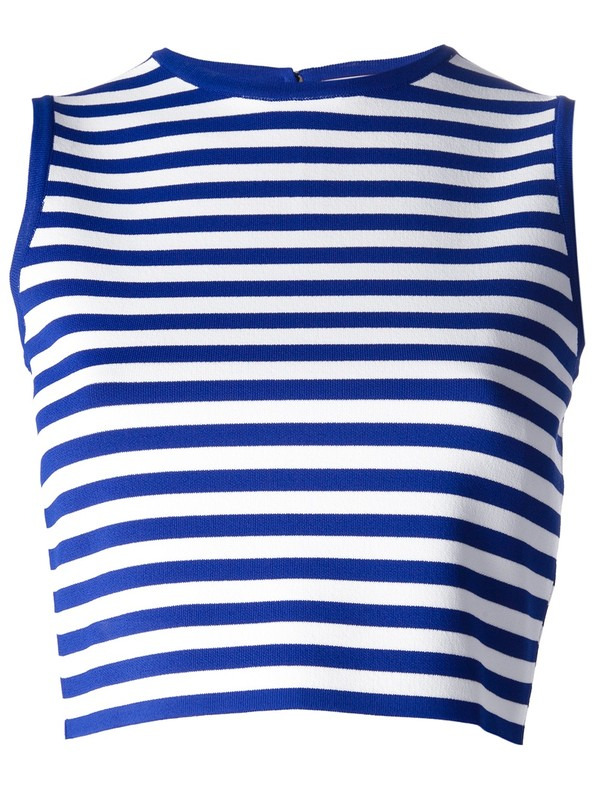 tank top cropped tank top emilio pucci srtipes marine blue white