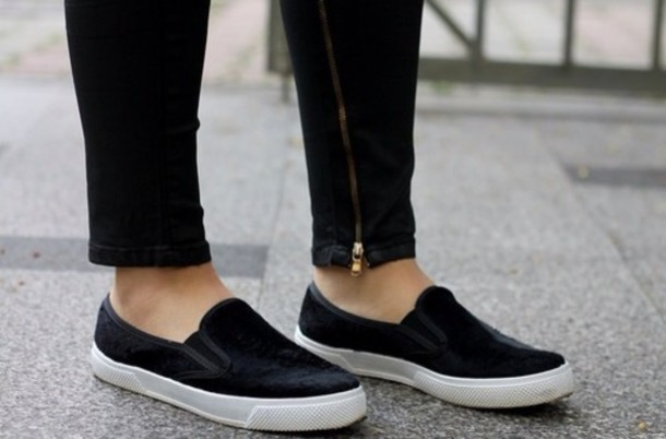 9c415d6861f9 shoes slip on shoes trendy black leather platform shoes summer