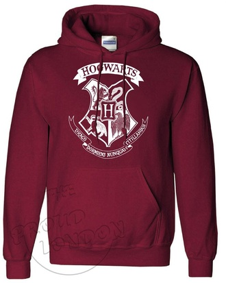 sweater hogwarts harry potter pullover hoodie burgundy