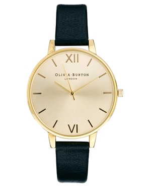 Olivia Burton | Olivia Burton Big Dial Black Watch at ASOS