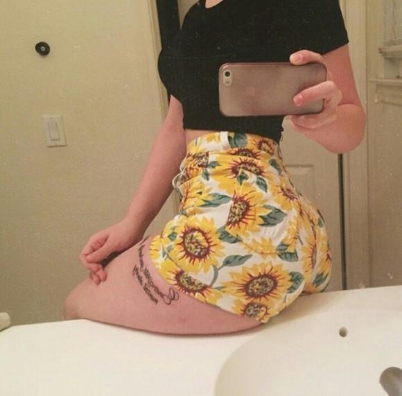 sunflower sunflower shorts yellow green