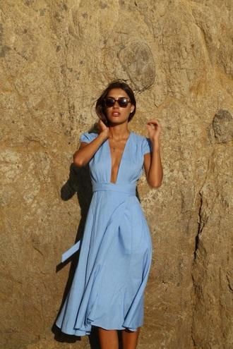 dress blue dress blue summer dress