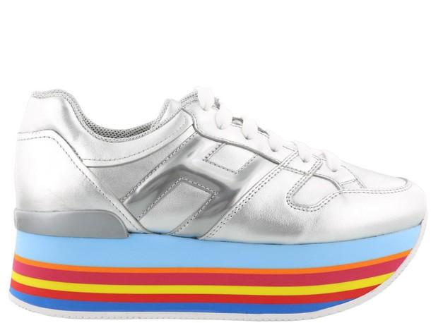 Hogan metallic silver shoes