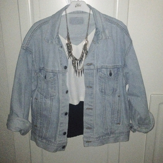 fashion jacket grunge jeans lovely hot denim jacket