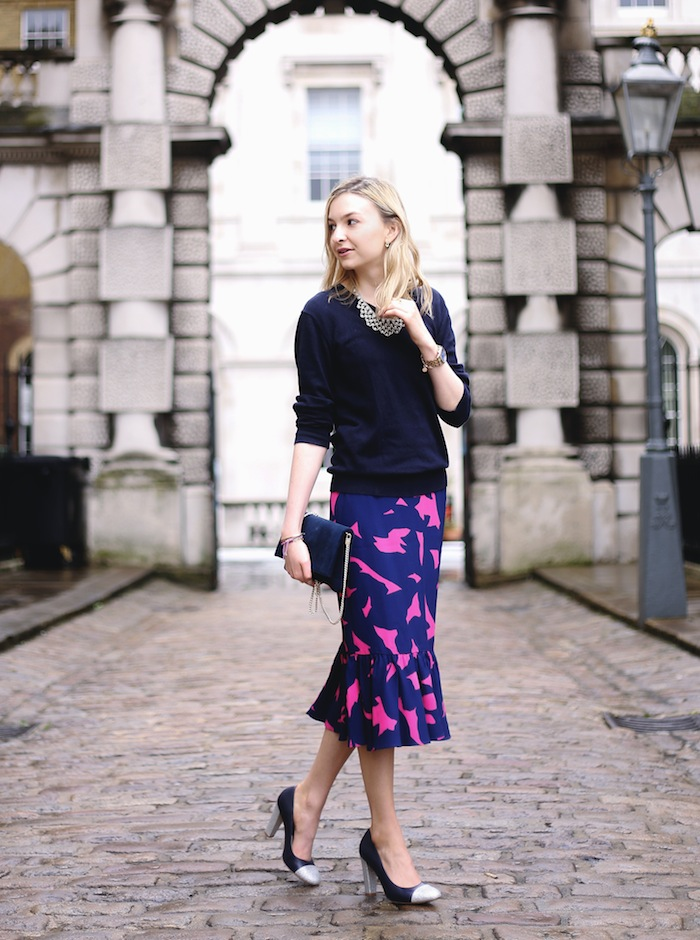 My style: the h&m trumpet skirt