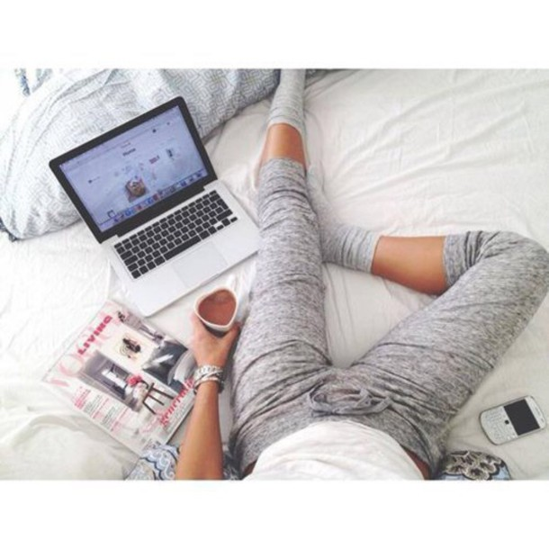pants cotton grey sweatpants