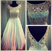 dress,mixed colored,strass,off the shoulder,turquoise