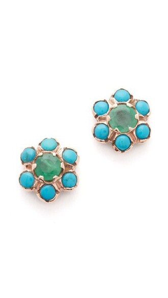 earrings turquoise jewels