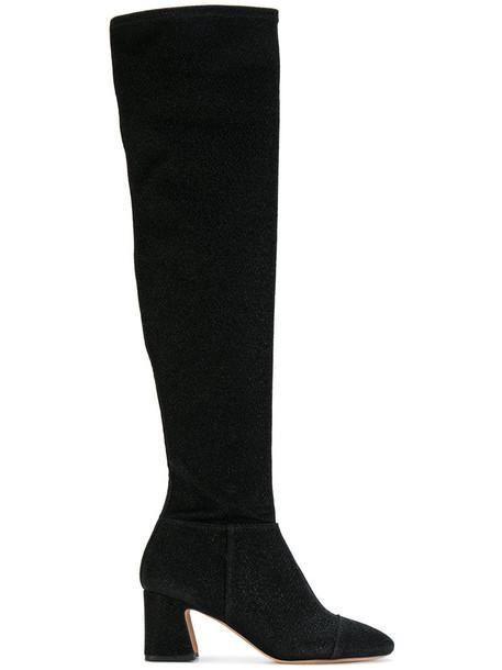 sock boots women black shoes