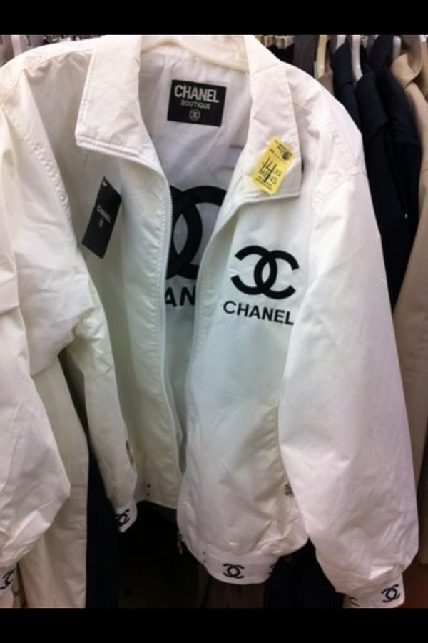 coat white chanel coat jacket vintage chanel chanel white jacket chanel style jacket chanel inspired chanel inspired chanel jacket long sleeves collar