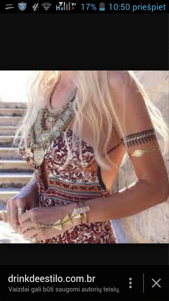 jewels pattern fashion style boho beach summer jewelry dress