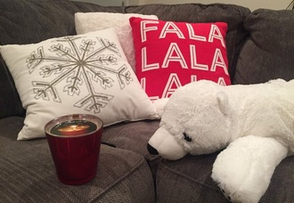 home accessory polar bear white pretty christmas merry christmas home decor decoration bear stuffed animal look winter outfits winter wonderland snow love love this holiday home decor snowflake quote on it pillow