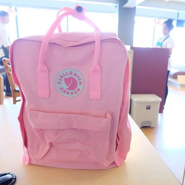 bag swedish bag backpack Fjallraven pink hipster jacket