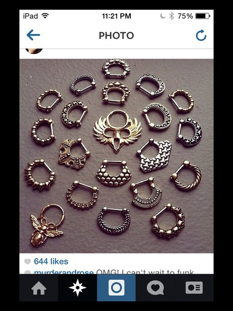 jewels jewelry septum piercing