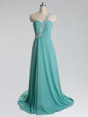 turquoise bridesmaid dress,crystal bridesmaid dress,one shoulder bridesmaid dress,turquoise prom dress,turquoise dress,crystal beaded dress