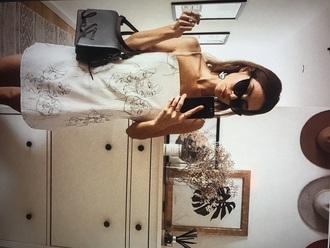 dress white dress mini dress artsy hipster tumblr outfit tumblr girl tumblr clothes