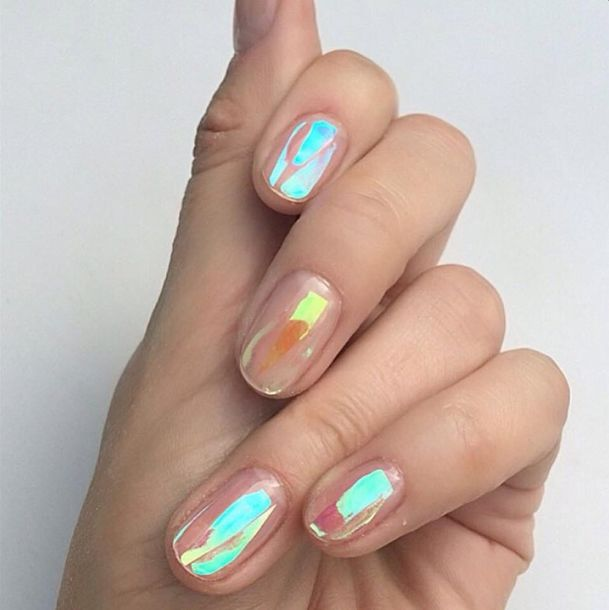 Rainbow Metallic Nail Polish