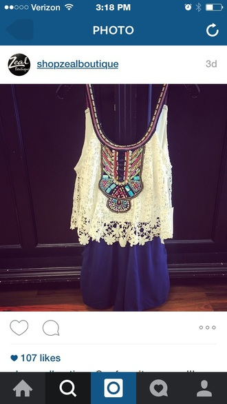 jumpsuit boho lace