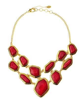 mixed bead bib necklace last call by neiman marcus