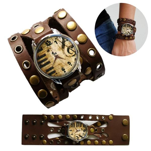 jewels brown watch watch music vintage ziz watch ziziztime