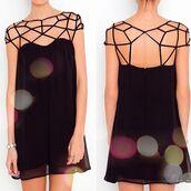 dress,little black dress,cute dress,summer dress,open back,black,short dress,short,party dress,short party dresses,cute,pretty,hat