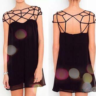 dress little black dress cute dress summer dress open back black short dress short party dress short party dresses cute pretty hat