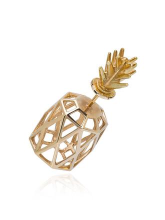 women pineapple gold silver yellow grey metallic jewels