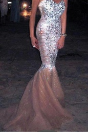 dress,prom dress,sequin dress,diamond dress,prom,sequins,strapless,mermaid,gorgeous