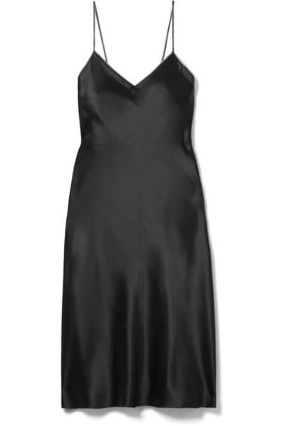 dress mini dress mini embellished black silk satin